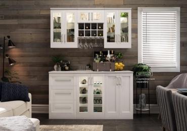 Home Bar 6 Piece Cabinet Set