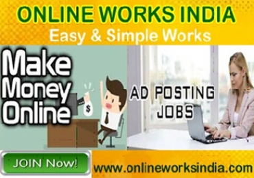 Join Today Online Ads Posting Jobs in India